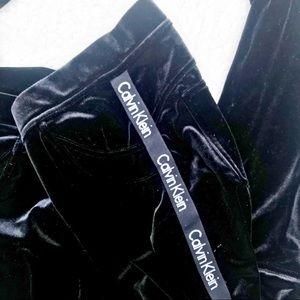 CALVIN KLEIN Track Pant Velvet Like W/ Signature